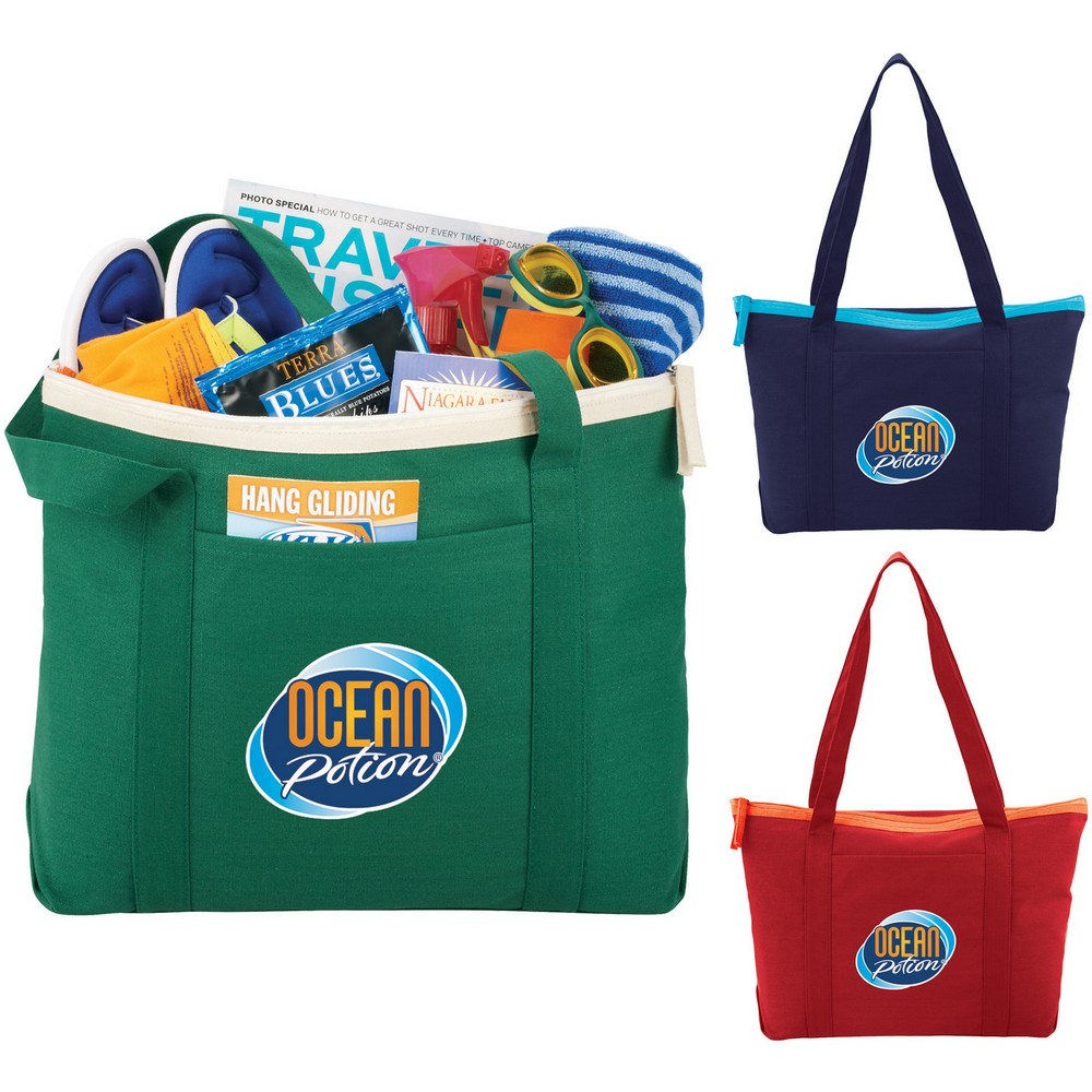 14oz Zippered Boat Tote